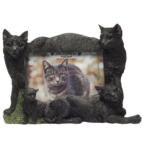 Black Cat Family Large Picture Frame