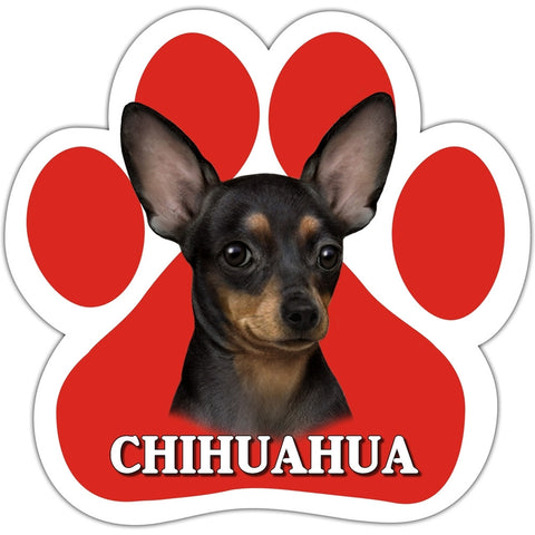 Black Chihuahua Paw Shaped Car Magnet