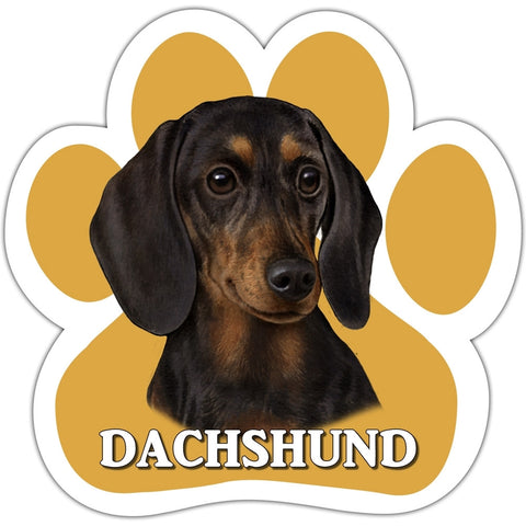 Black Dachshund Paw Shaped Car Magnet