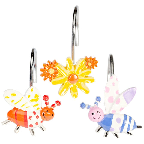 Cute As A Bug  Shower Curtain Hooks