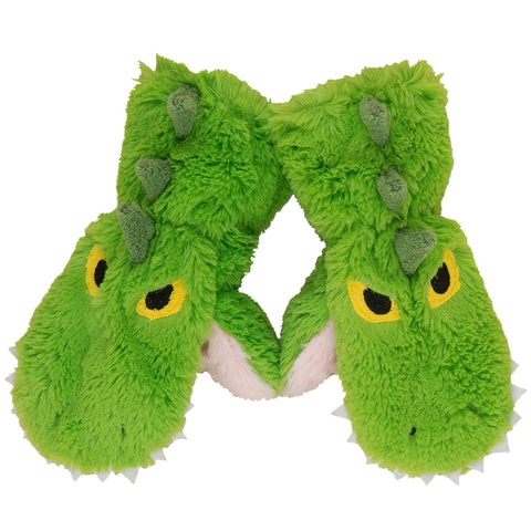 Alligator Toddler Fuzzy Fleece Mittens