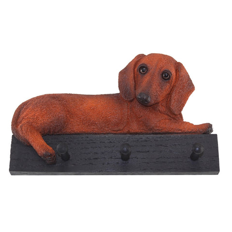 Red Dachshund Dog Leash and Kitchen Holder