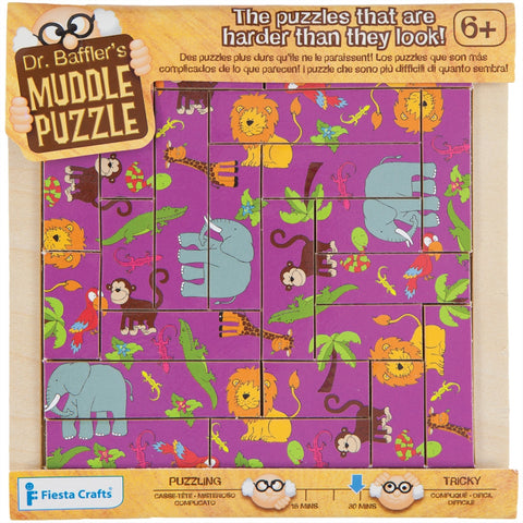 22-Piece Jungle Muddle Puzzle