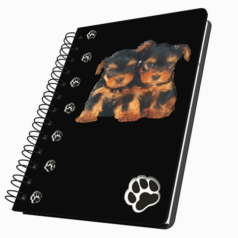 Yorkshire Terrier Puppies Small Acrylic Journal