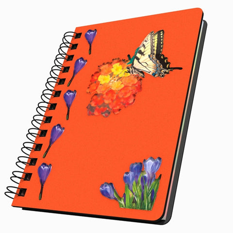 Butterfly & Flowers Small Acrylic Journal