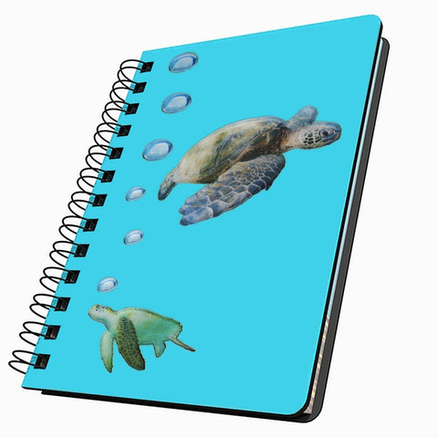 Sea Turtle  Swimming Small Acrylic Journal