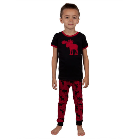 Moose Silhouette Youth Pajama Set