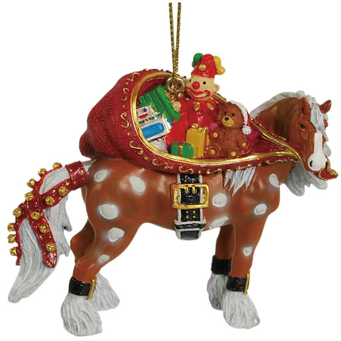 Clydesdale Santa Sack Christmas Ornament