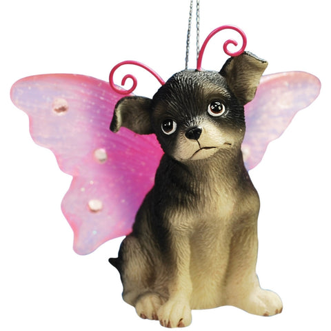 Chihuahua With Butterfly Wings Christmas Ornament