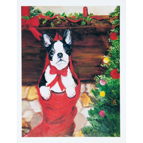 6 Boston Terrier Boxed Christmas Greeting Cards