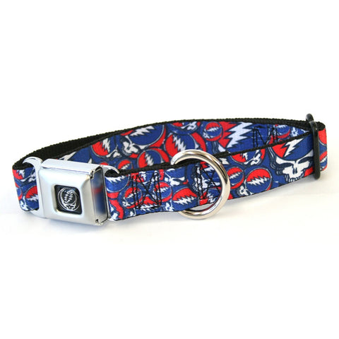 Grateful Dead - Steal Your Face Stacked Dog Collar