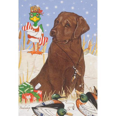 Chocolate Labrador Retreiver Christmas 10 Boxed Greeting Cards