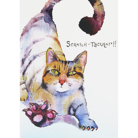 Cat Scratch-tacular It's Your Birthday Greeting Card