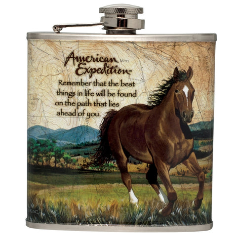 American Mustang Steel Hip Flask