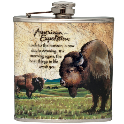American Bison Steel Hip Flask
