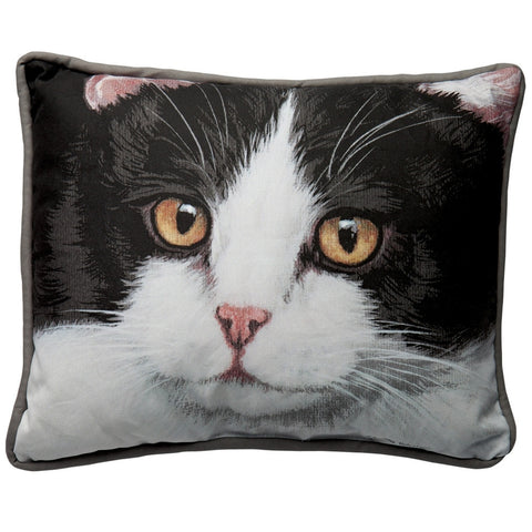 Black & White Cat Decorative Pillow