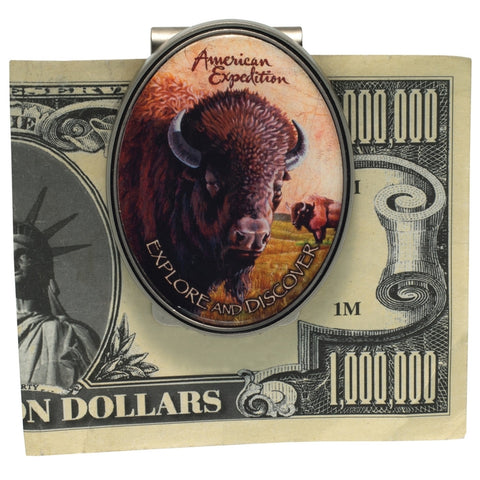 American Bison Metal Money Clip