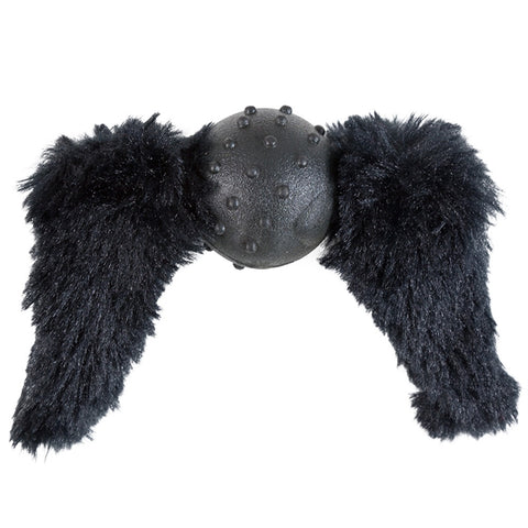 Black Chops Mustache Dog Toy