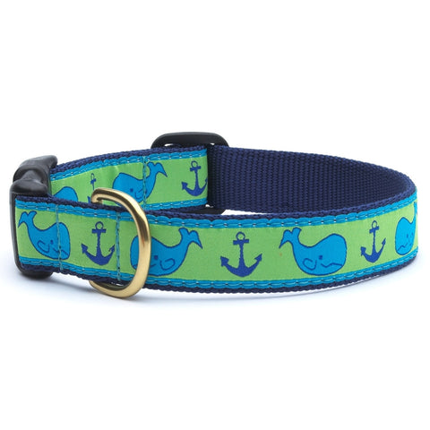 Whales & Anchors Dog Collar