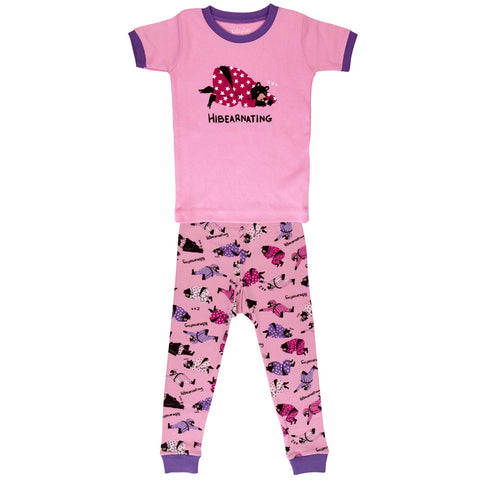 Bear Hiberarnating Juvy Pajama Set