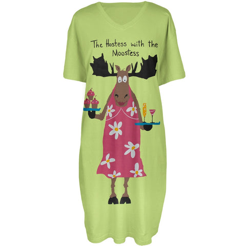 Moose Hostess With the Moosetess Women's Sleepshirt