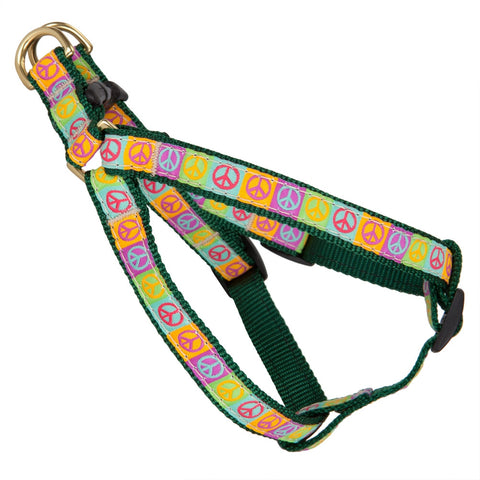 Peace Signs Dog Harness