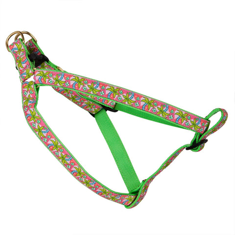 Pink Palms Dog Harness