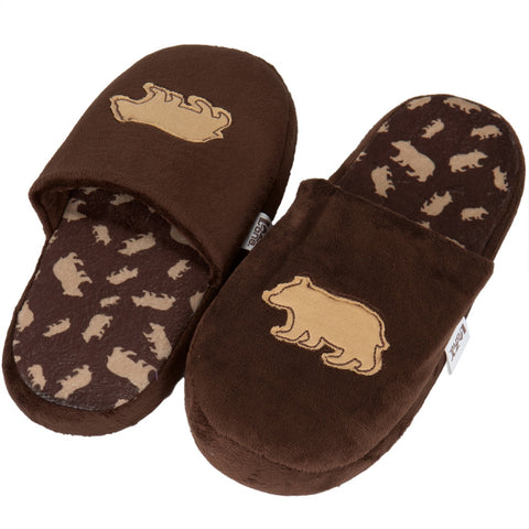Brown Bear Adult Spa Slippers