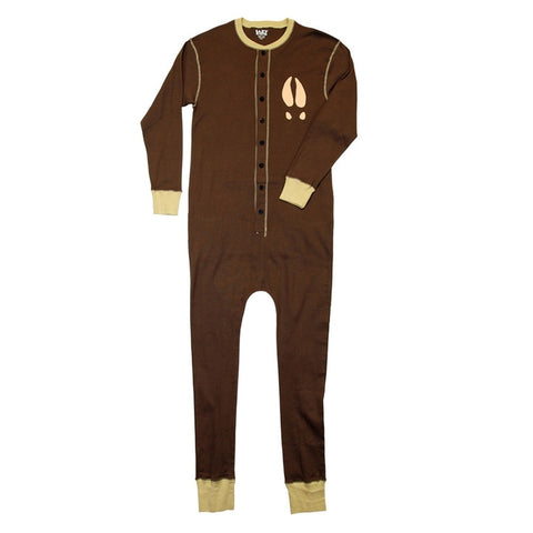 Moose Caboose Brown Flapjack Pajamas