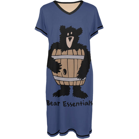 Bear Essentials Women's V-Neck Nightshirt