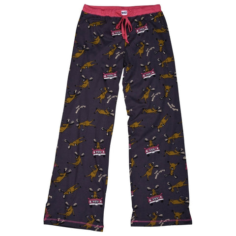 Moose Text Moose-aging Juniors Sleep Pants