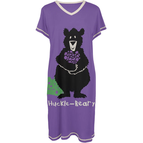 Bear Huckle-Beary Women's V-Neck Nightshirt