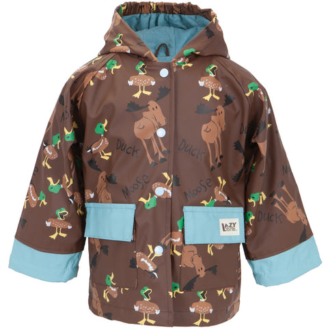 Duck Duck Moose Brown Toddler Rain Coat