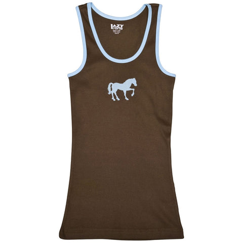 Horse Filly Silhouette Juniors Tank Top