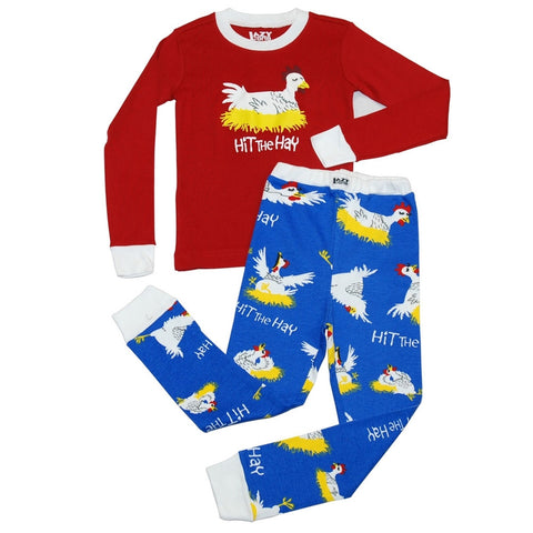Chicken Hit the Hay Toddler Long Sleeve Pajama Set