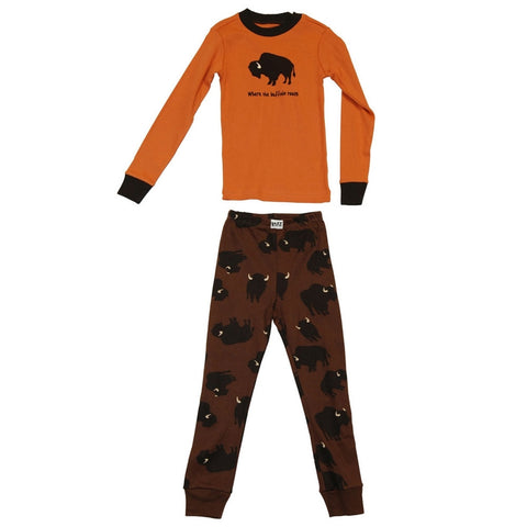Buffalo Toddler Long Sleeve Pajama Set