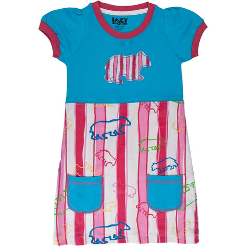 Bear Stripes Toddler Dress