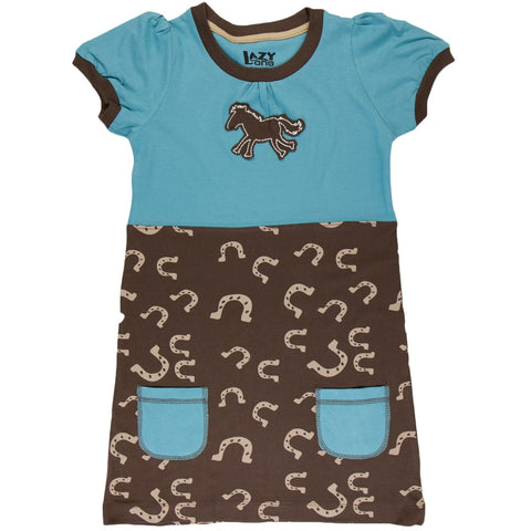 Horse & Shoes Toddler Dress