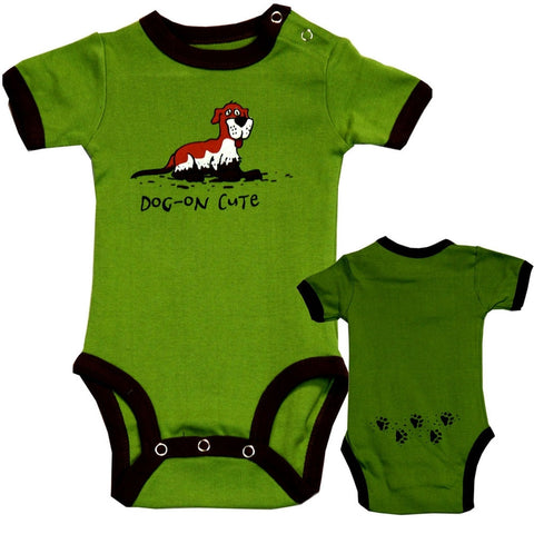 Dog On Cute Baby One Piece