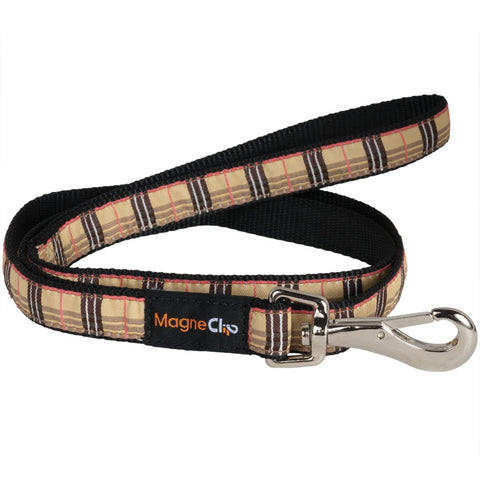 Tan Plaid Medium Leash