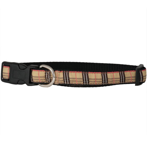 Tan Plaid Collar
