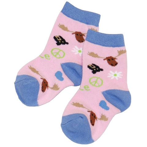 Moose Peace Love Kid's Socks