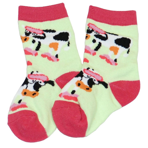 Cow Moody Kid's Socks