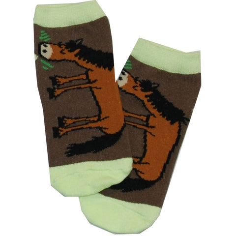 Horse Pasture Bedtime Kid's Socks