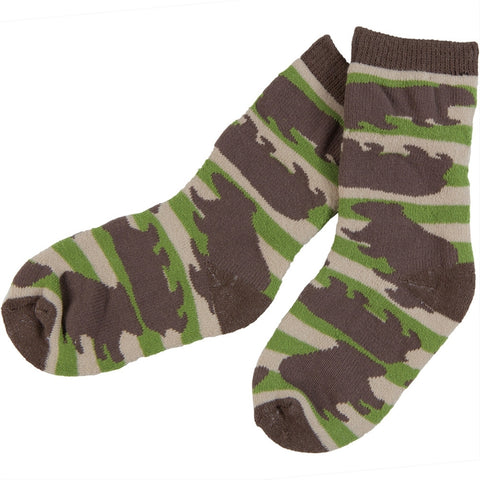 Stripey Bear Infant Socks