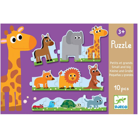 Animals Small and Big 10 Piece Puzzle