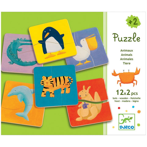 Colorful Animals 24 Piece Puzzle Set