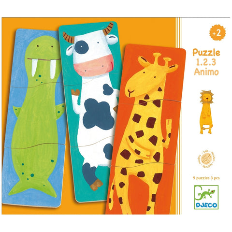 Wooden Magnet Fancy Animals 27 Piece Puzzle Set