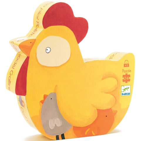 24 Piece Rooster Chicken Puzzle