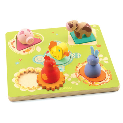 Wooden Bildi Duck and Friends Puzzle